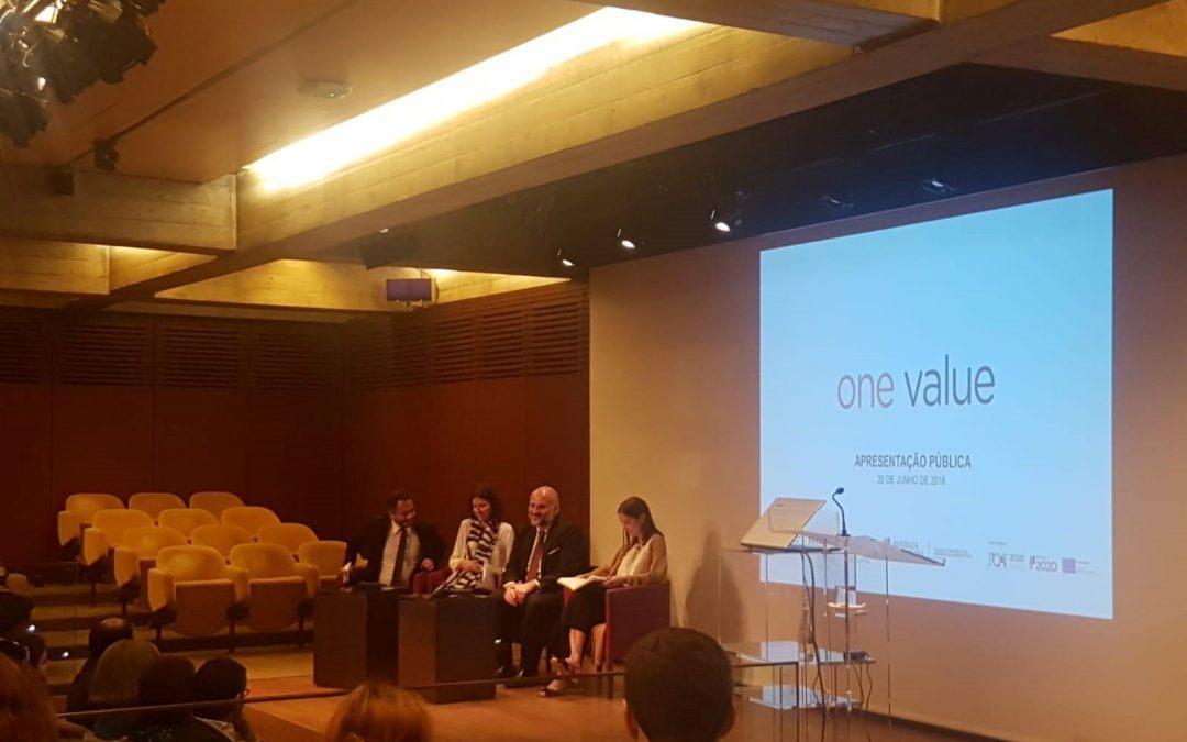 Apresentação pública da plataforma One Value