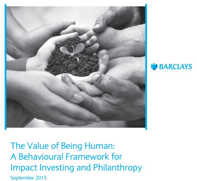 Estudo do Barclays Bank sobre o Comportamento e Motivações dos Investidores Sociais