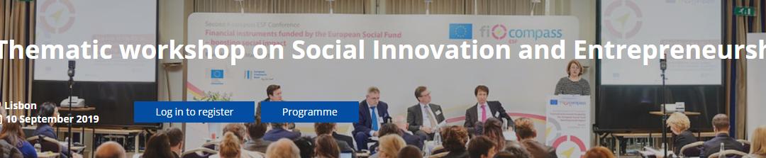 Lisboa acolhe workshop da Comissão Europeia sobre Inovação e Empreendedorismo Social